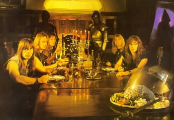 The Band Sitting For A Meal  Piece Of Mind Iron Maiden